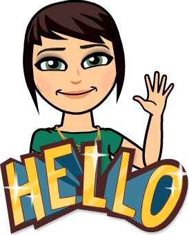 """""""Hello"""" from Bitmoji"""